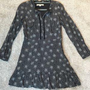 Petite! Black and white Loft dress